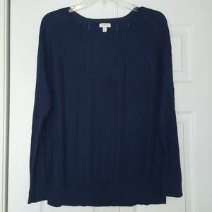 Soft Joie blue cable knit sweater. Size large